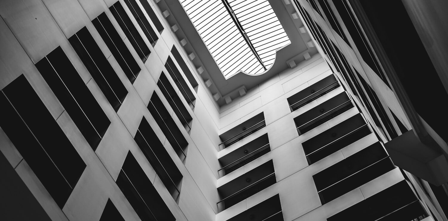 abstract-grayscale-photo-hotel-windows | The Savoy Hotel on Little Collins