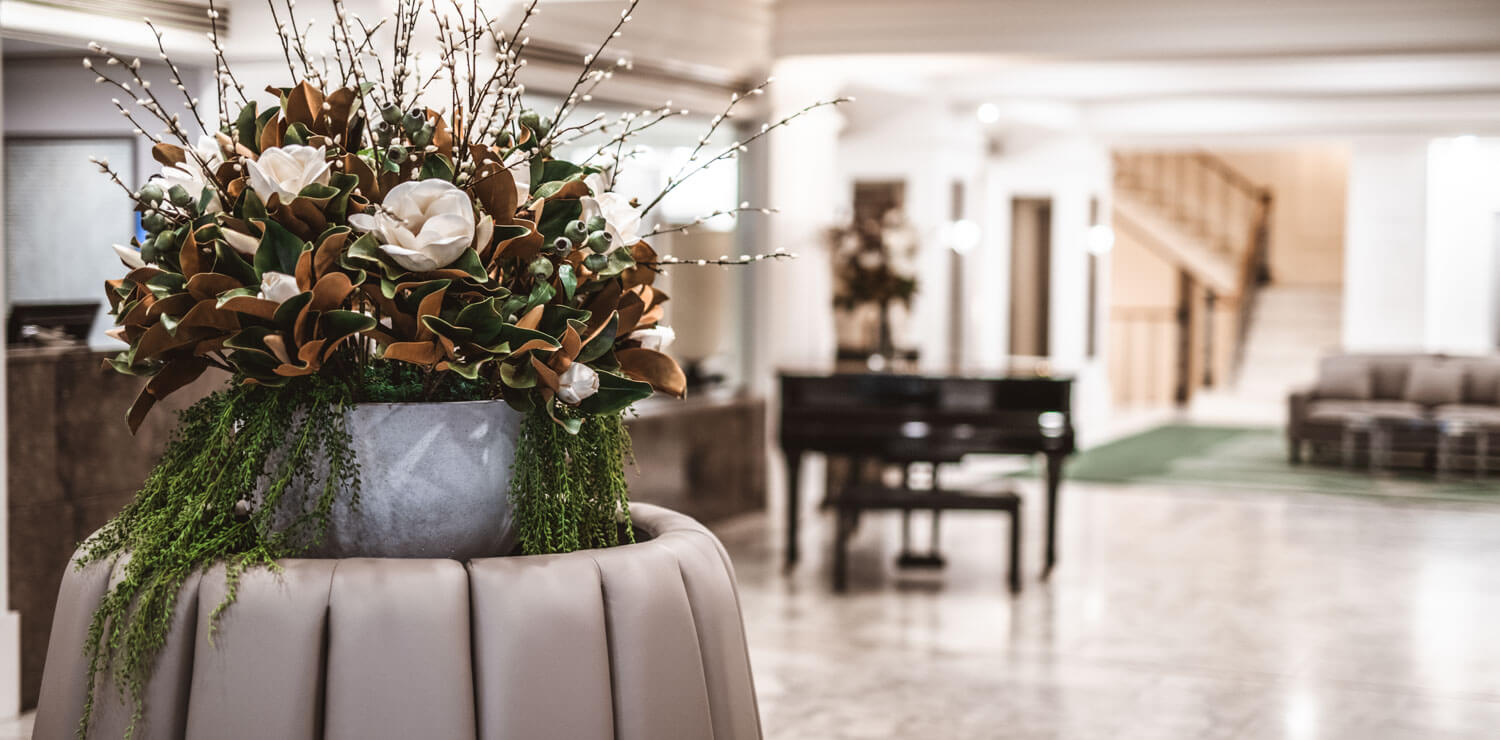 flowers-and-lounge-hotel-lobby | The Savoy Hotel on Little Collins