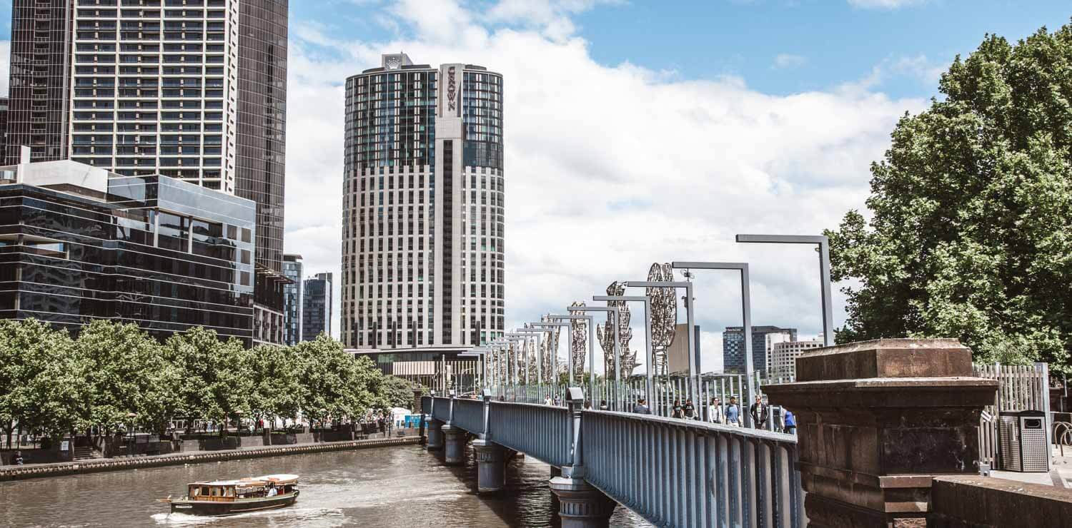river-cityscape-bridge-melbourne-cbd | The Savoy Hotel on Little Collins
