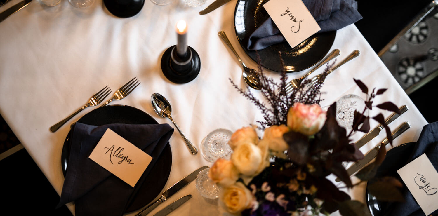 up-close-photo-wedding-setting-with-name-cards | The Savoy Hotel on Little Collins