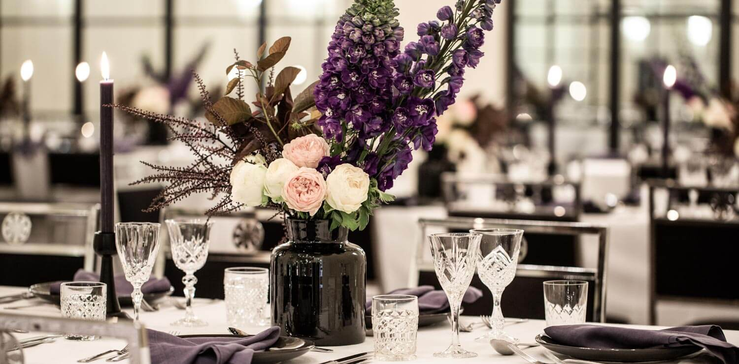 wedding-table-with-decoration-and-flowers-and-candles | The Savoy Hotel on Little Collins