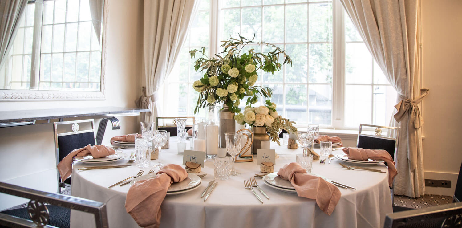 wedding-table-with-decoration-and-flowers-pink | The Savoy Hotel on Little Collins