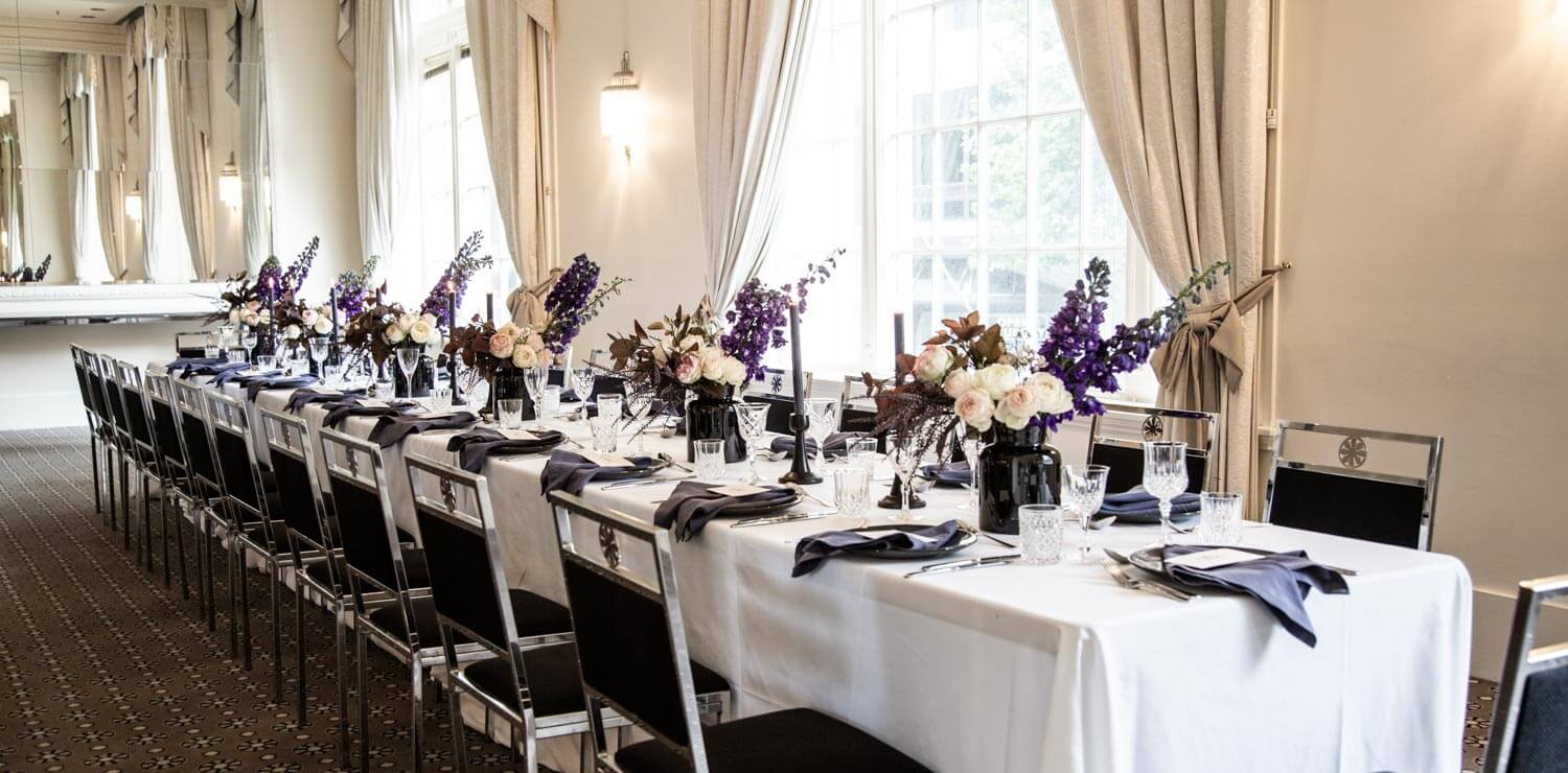 wedding-table-with-decoration-and-flowers | The Savoy Hotel on Little Collins