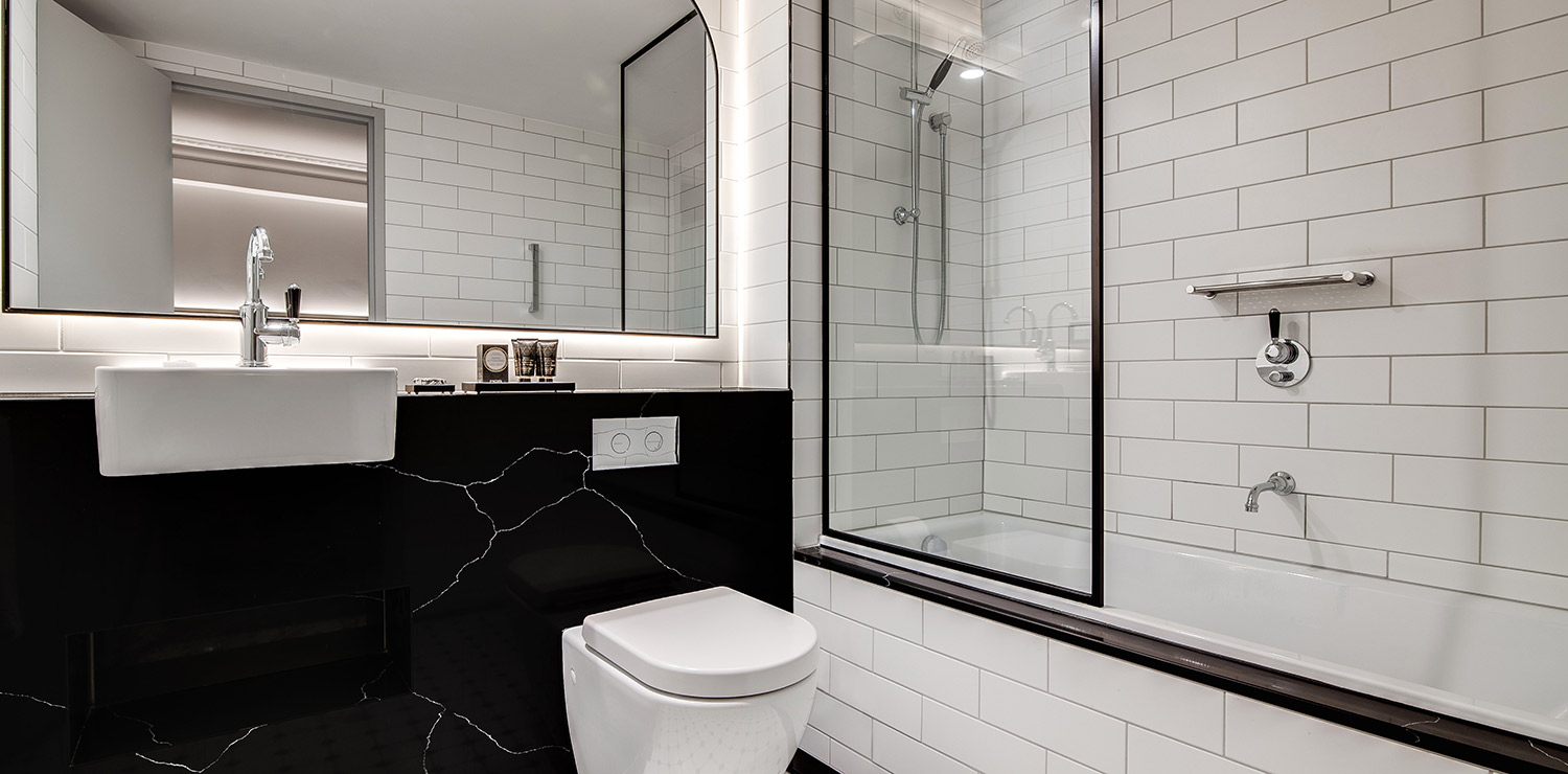 the-savoy-hotel-on-little-collins-melbourne-guest-room-twin-bathroom-01-2018 | The Savoy Hotel on Little Collins