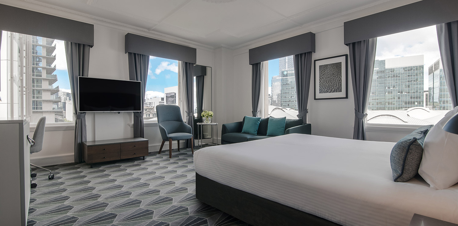 the-savoy-hotel-on-little-collins-melbourne-plaza-room-bedroom-05-2018 | The Savoy Hotel on Little Collins
