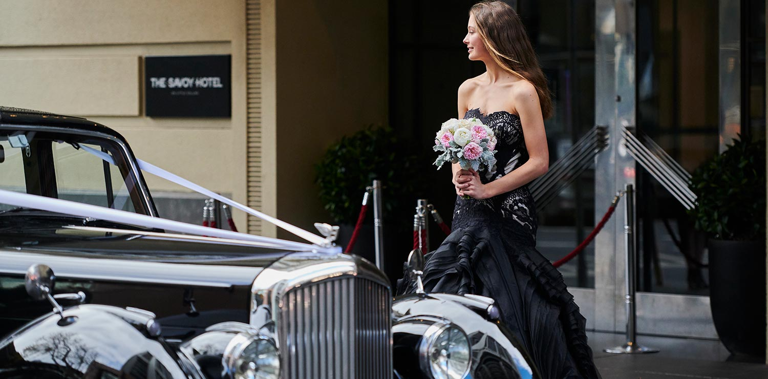 savoy-hotel-melbourne-wedding-bride-exterior-02-2019 | The Savoy Hotel on Little Collins