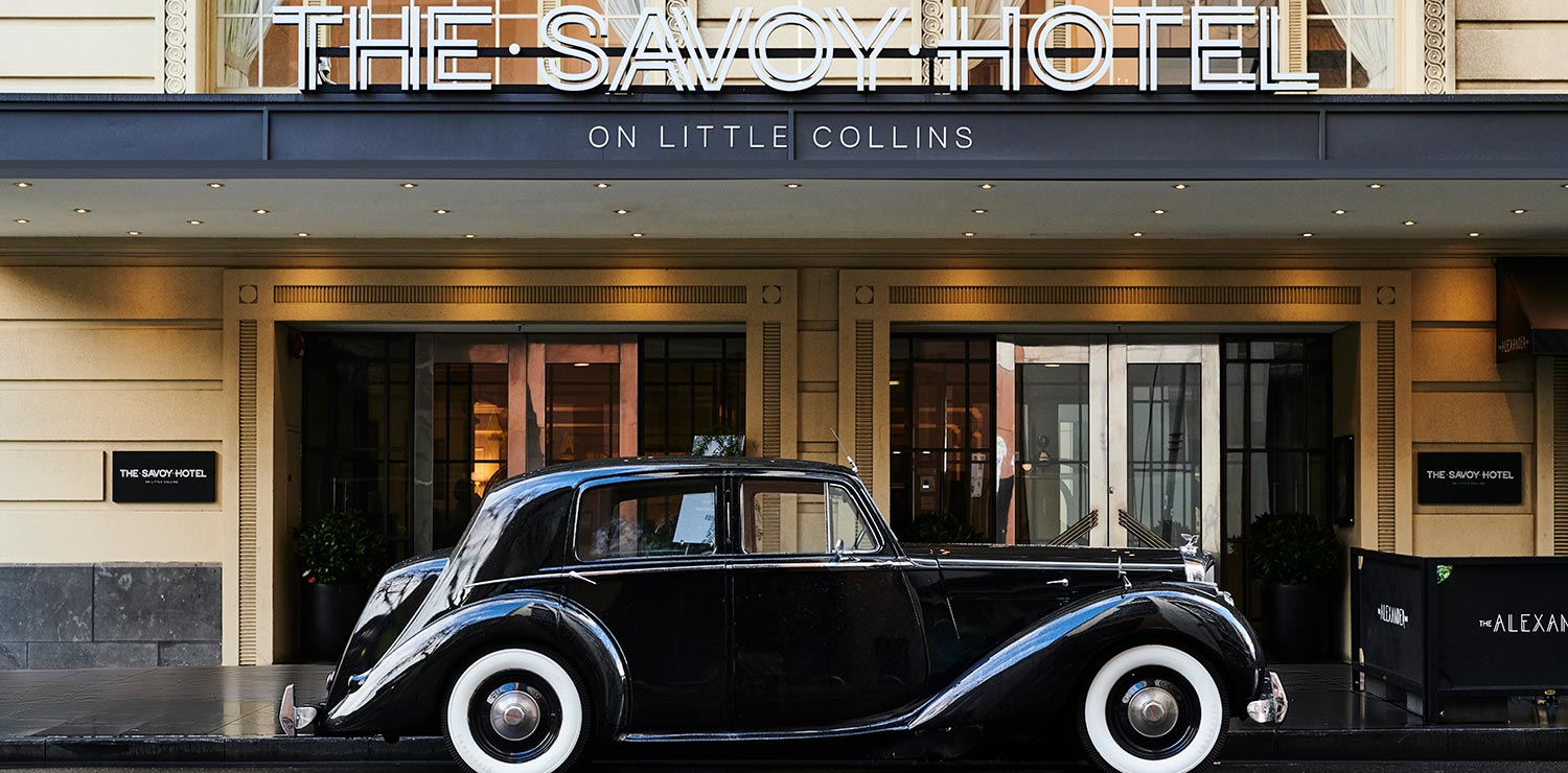 savoy-hotel-melbourne-wedding-exterior-car-01-2019 | The Savoy Hotel on Little Collins