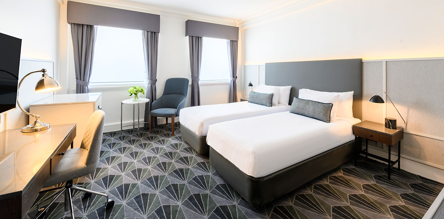 the-savoy-hotel-on-little-collins-melbourne-guest-room-bedroom-twin-01-2019 | The Savoy Hotel on Little Collins